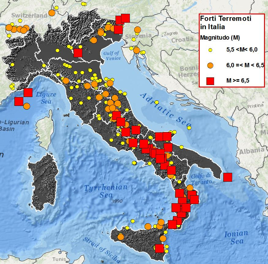 Terremoti in Italia, la mappa dal 2009 ad oggi | Il ...