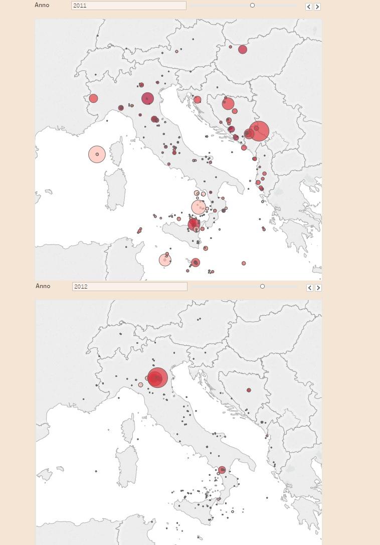 Cartina Italia Terremoti.Terremoti In Italia La Mappa Dal 2009 Ad Oggi Ilpapaverorossoweb